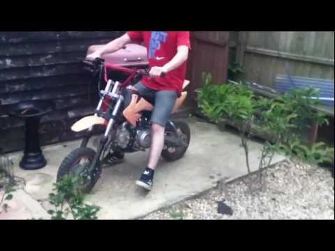 loncin 110cc pit bike dumping the clutch