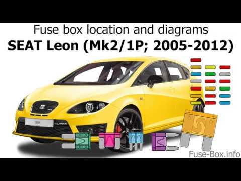 [DIAGRAM_5FD]  Fuse box location and diagrams: SEAT Leon (2005-2012) - YouTube | Seat Leon Mk2 Fuse Box Location |  | YouTube