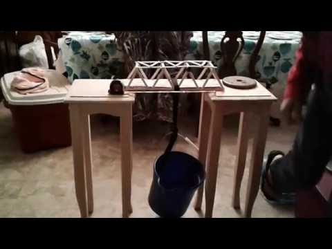 Introduction to Engineering popsicle bridge test