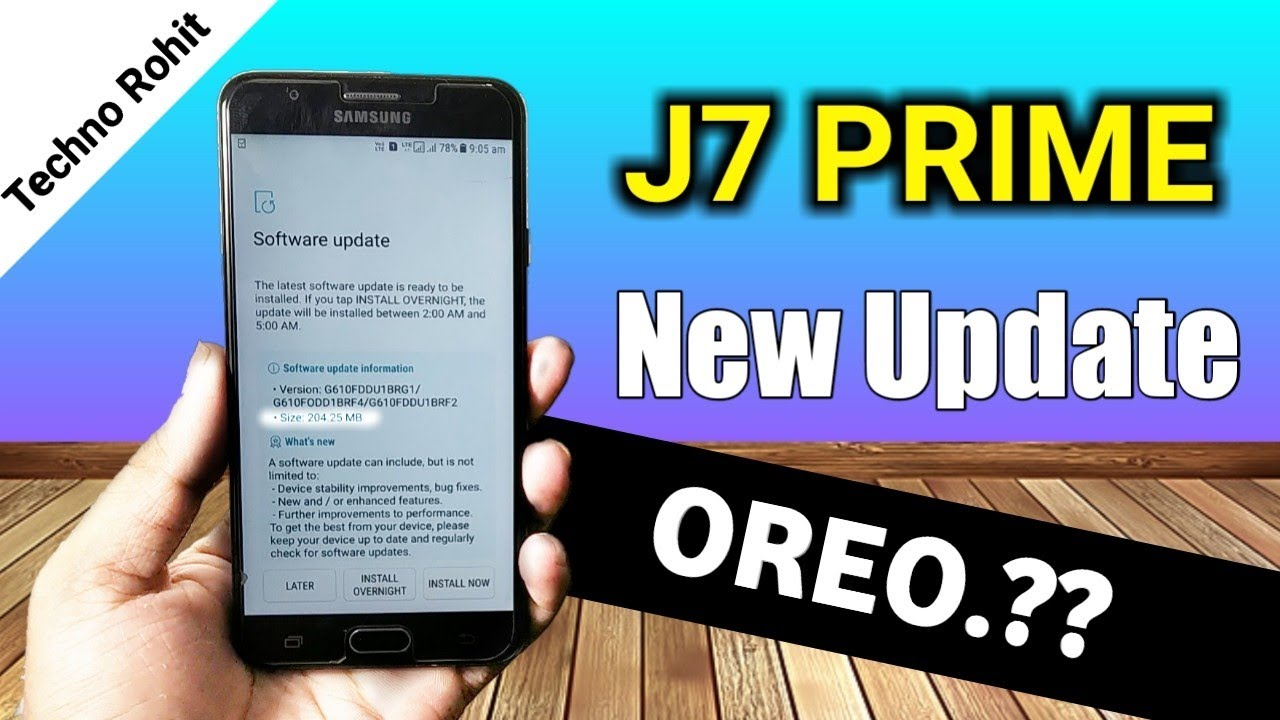 SAMSUNG GALAXY J7 PRIME NEW UPDATE : OREO   ????