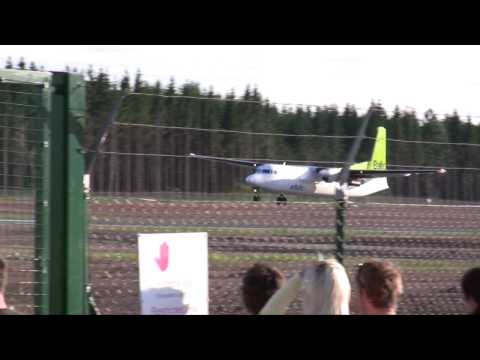First AirBaltic aircraft arrival to Tartu airport (Estonia)