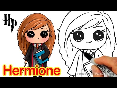 How To Draw Hermione Easy Harry Potter Youtube