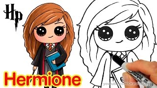 How to Draw Hermione Easy | Harry Potter