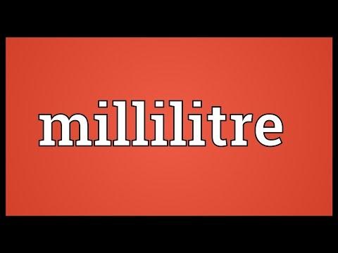 Header of millilitre