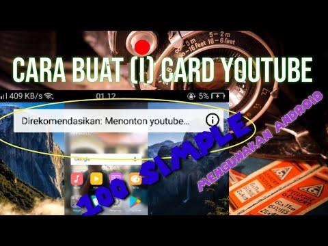 cara buat (i) card youtube   mengunakan android