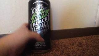 Mountain Dew Black Label Taste Test not sponsored