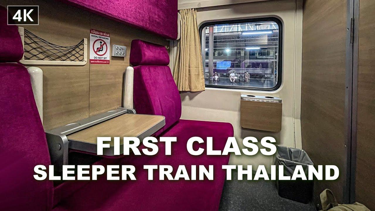 【4K】First class overnight train Bangkok to Chiang Mai, Thailand 2021