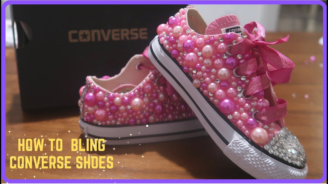 DIY : HOW TO BLING CONVERSE SHOES - YouTube