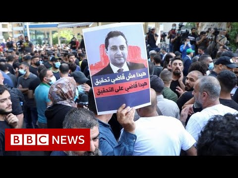 Gunfire erupts at protest over Beirut port blast judge - BBC News