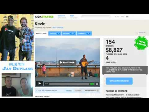 Jay Duplass talks about crowd-funding his first documentary Kevin