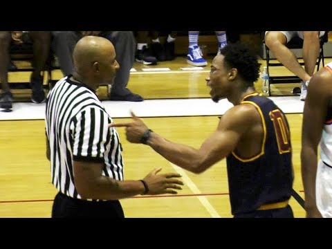 Demar Derozan Throws Ball At Ref HARD & Walks Out! PISSED After Drew League Loss!