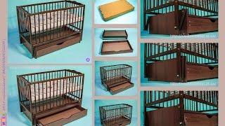 Как собрать детскую кроватку ДУБОК маятник с ящиком, Бук - Тонированый (HDTV 1080)