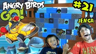 Lets Play Angry Birds GO Part 21! JENGA & Online Multiplayer (Mike & Dad Facecam)