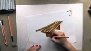 Видеоурок по созданию текстуры дерева на примере деревянной столешницы. Рисуем столешницу из дерева