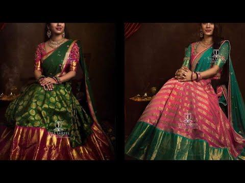 Latest New Pattu Designer Half Sarees Model S Images New Trendy Lehenga Designs Contact 8341382382 Youtube