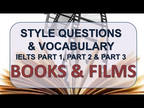 IELTS Speaking Part 1, Part 2, Part 3 With Vocabulary | Topic: Books And Films