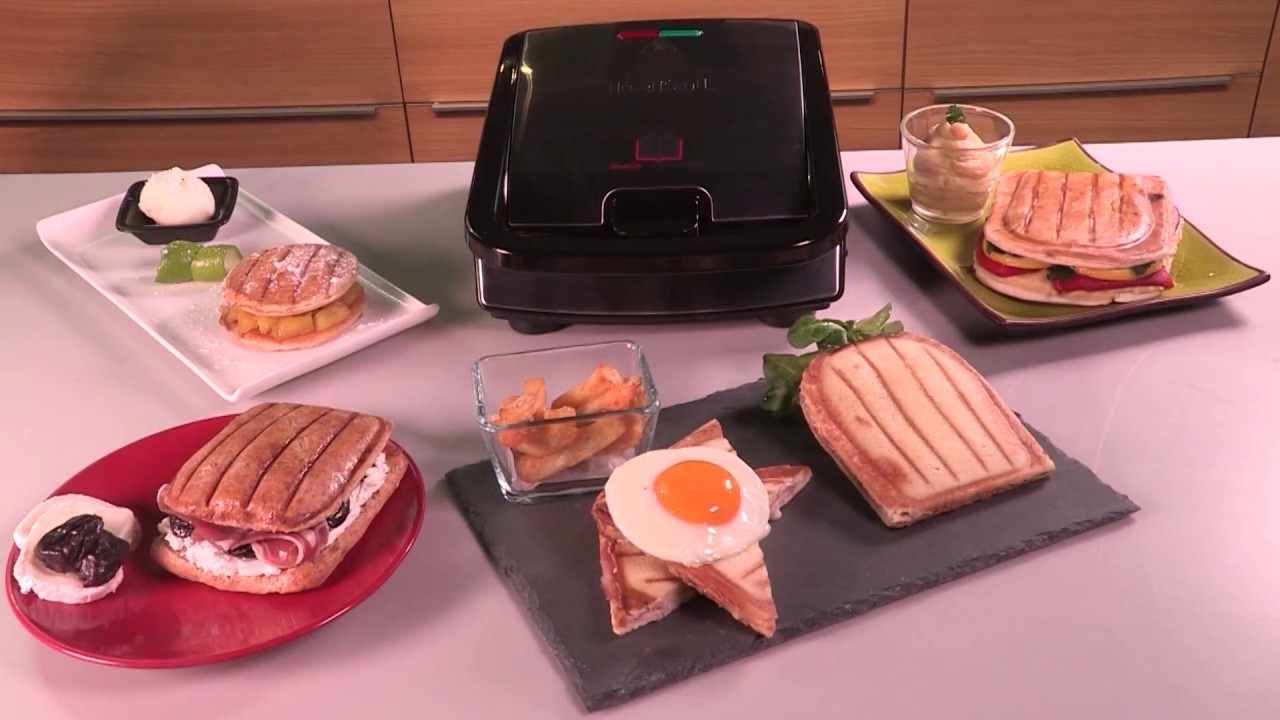 tefal snack collection no 1 croque monsieur plates youtube. Black Bedroom Furniture Sets. Home Design Ideas