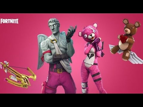 New Valentines Update New Love CrossBow Weapon New Outfits Fortnite Battle Royal lvl 80+ 50+ Wins