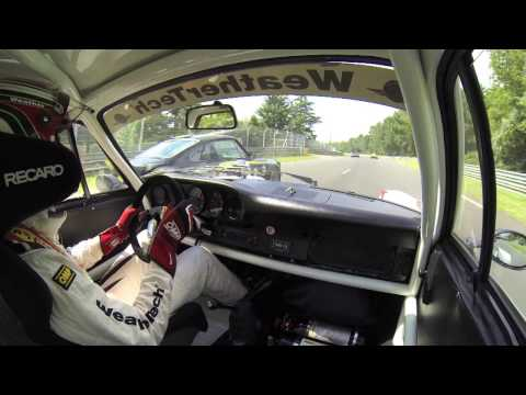 Leh Keen driving a 74 Porsche RSR in the 2014 LeMans Classic