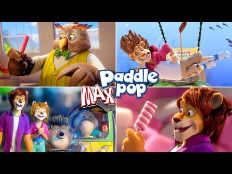 Funny Paddle POP Lion MAX Ice Cream Cartoon Commercials