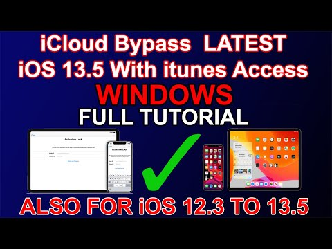 ICloud Bypass Latest IOS 13.5 On Windows   Bypass Ios 13.5/13.4.1/13.4/13.3.1/13.3/13.2/12.4.4/12.3