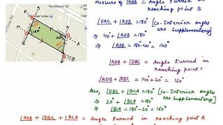 Parallel Lines and Transversal - Consecutive Interior Angles - Real Life Application Question