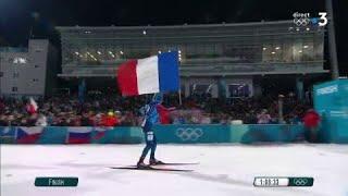 JO 2018 : Biathlon - Relais mixte : La France championne olympique !