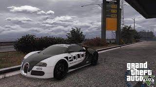 GTA 5 MOD - SUPERCARS PATROL - NO COMMENTARY (GTA 5 REAL LIFE POLICE PC MOD) BUGATTI VEYRON