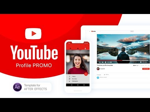 YouTube Profile Promo | After Effects Template