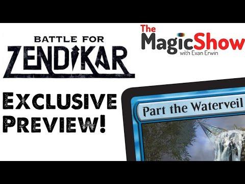 The Magic Show Battle For Zendikar spoiler! Check out the blue mythic Part the Waterveil!