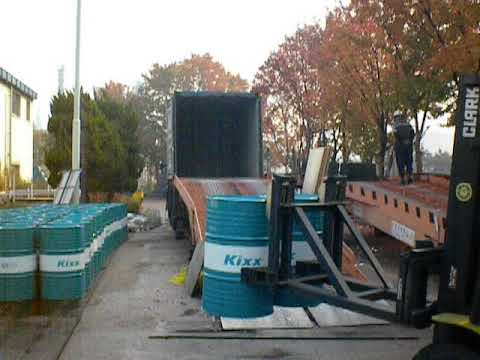 How To Load Drums Quickly And Safely In GS Kixx 200lit Lubricants Factory