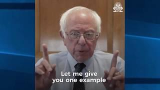 Bernie Sanders Reacts to Trump