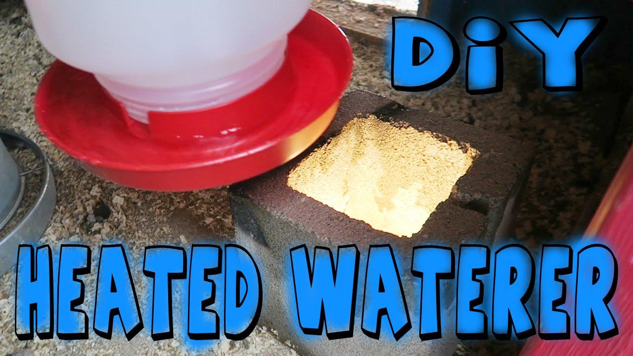 Diy Heated Chicken Waterer Youtube