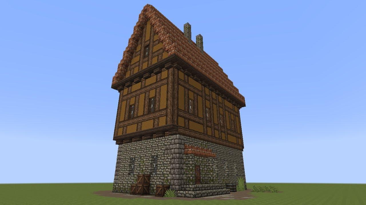 minecraft fachwerkhaus 4 half timbered house youtube. Black Bedroom Furniture Sets. Home Design Ideas