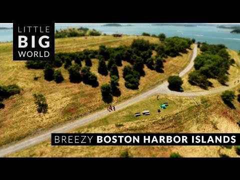 Breezy Boston Harbor Islands (Time-Lapse ,Tilt-Shift, Aerial)