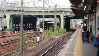 名鉄3500系トップナン3501F✙3100系3119F急行豊橋行金山4番線到着