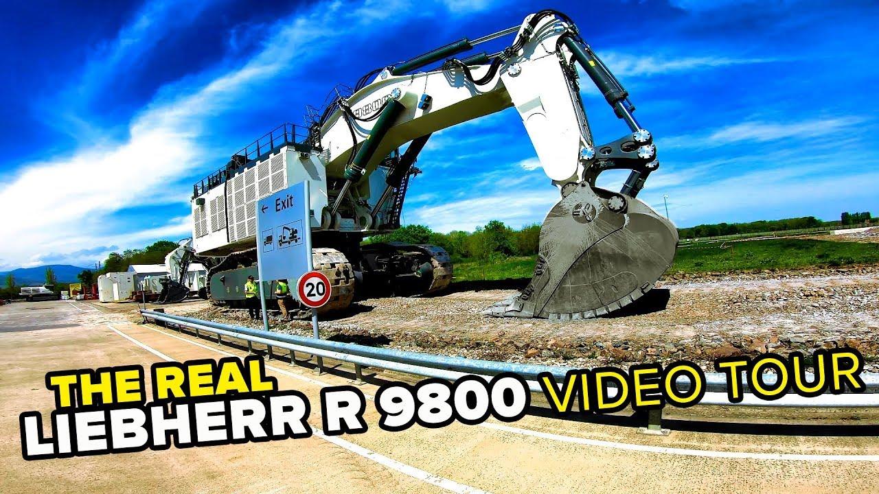 Liebherr R 9800 The Biggest Liebherr Excavator Pov Tour 4k Youtube