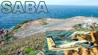 SABA One of the Shortest Runways in the World!