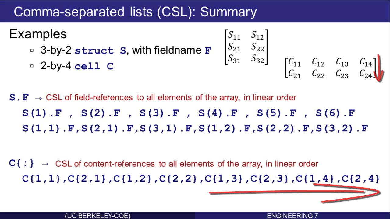 Cell and Struct Arrays in Matlab: Part 15 (of 16)