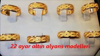 22 Ayar Altın Alyans Modelleri & Nişan Yüzükleri ve Çeşitleri