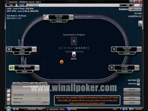 $100 Carbon Poker Freeroll Tournament - Winallpoker