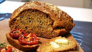 Бездрожжевой Хлеб с Маком и Кунжутом | Как приготовить Полезный Хлеб на Кефире
