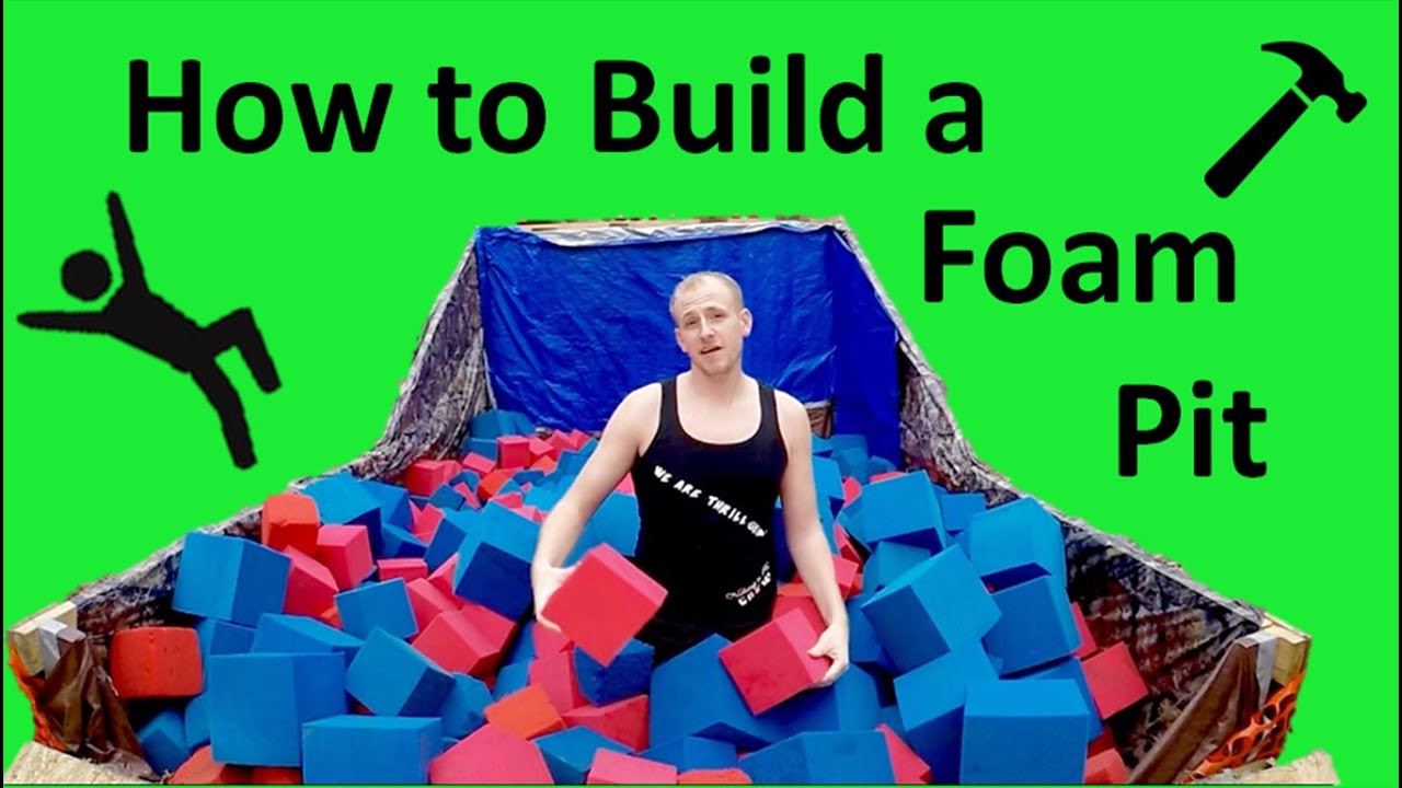 how to build a backyard foam pit youtube