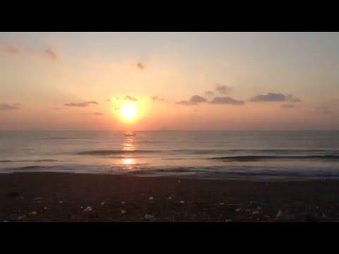 Sunrise Timelapse Auroville Beach, India