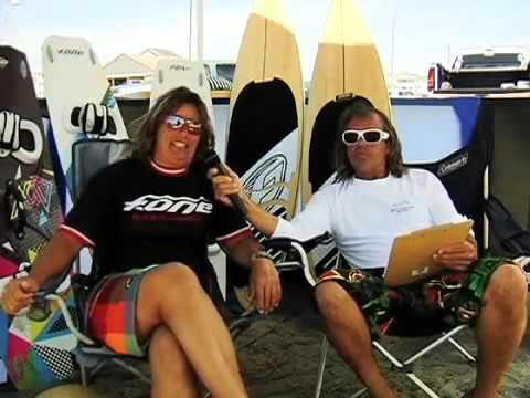 Host Kevin Murray interviews team rider Paula Sonnenberg