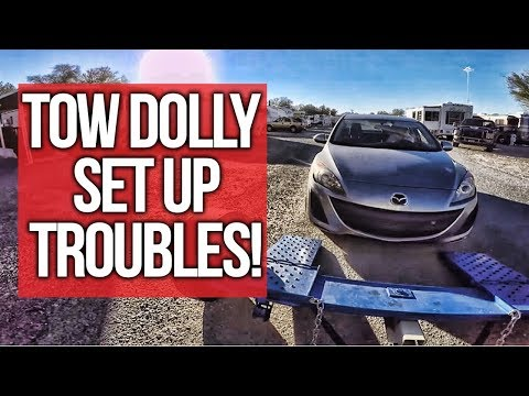 New Tow dolly Set Up Troubles! Full Time RV Living In Quartzsite