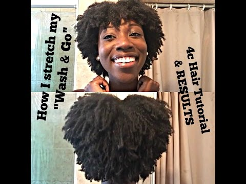 WASH & GO using BANDING METHOD to stretch hair I 4C Hair