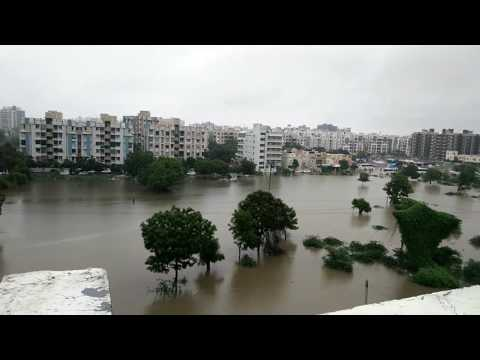 Heavy rain in Ahmedabad (Gota area)