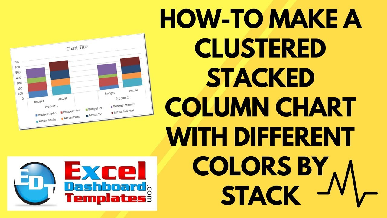 How-to Make an Excel Clustered Stacked Column Chart with Different ...