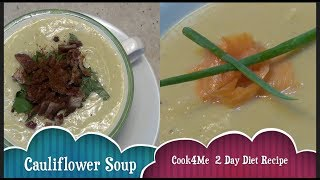 Cauliflower Soup Cook4Me 2 Day Diet Low cheekyricho cooking recipe. Ep. 1,165